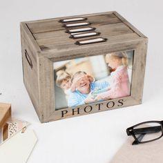 Personalised Five Compartment Photo Storage Box