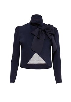 Addison Bow Collar Crop Jacket By Alice + Olivia $396