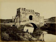 1860/65 Altobelli e Molins . Ponte Nomentano con soldati e pescatori sotto l' arcata.