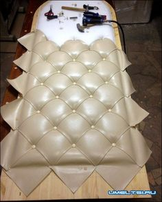 Creative And Inexpensive Tips: Upholstery Headboard Tutorials upholstery ideas apartment therapy.Upholstery Stain Remover How To Get. Reupholster Furniture, Upholstered Furniture, Diy Furniture, Furniture Design, Playroom Furniture, Furniture Making, Tufted Headboards, Headboard Designs, Diy Home Decor