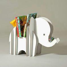 Cute cardboard bookshelf.
