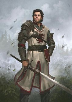 Human Fighter Warrior – Pathfinder PFRPG DND D&D fantasy - Character inspiration Fantasy Male, Fantasy Armor, High Fantasy, Medieval Fantasy, Fantasy Fighter, Medieval Knight, Character Inspiration Fantasy, Fantasy Character Design, Character Art