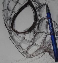 Ballpoint Amazing Spiderman by Thestickibear.dev… on Ballpoint Amazing Spiderman by Thestickibear. Spiderman Sketches, Spiderman Drawing, Marvel Drawings, Spiderman Art, Amazing Spiderman, Disney Drawings, Cartoon Drawings, Drawing Superheroes, How To Draw Spiderman