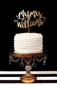 Wedding Cake Topper Custom Cake Topper for by BetterOffWed