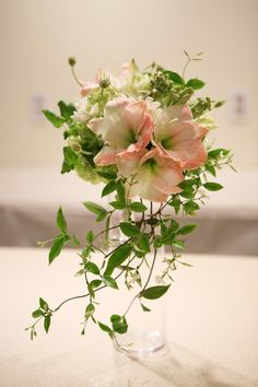 Fressh and Lovely Peach Amaryllis Bridal Bouquet from lafragrance flower