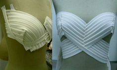 Pleated Draped Bustier