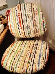Looking for sewing project inspiration? Check out Selvage Sewing Chair Cover by member PamelaQuilter.