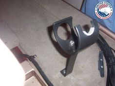 DIY fishing rod holders for the new boat restoration Pvc Rod Holder, Diy Fishing Rod Holder, Fishing Rod Storage, Rod Holders, Catfish Fishing, Kayak Fishing, Fishing Tips, Ice Fishing, Catfish Rigs