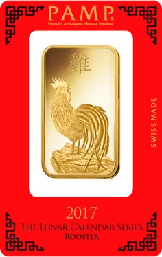 Lunar Series China 2017 Rooster Silver 50 Grams Medal//Bar