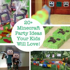 Minecraft Party Ideas Your Kids Will Love! Minecraft Party Ideas Your Kids Will Love! 15th Birthday Party Ideas, Teen Birthday, Birthday Parties, Ideas Party, Fun Ideas, Minecraft Party, Minecraft Crafts, Minecraft Creations, Minecraft Houses