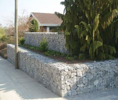 Monotec - Gabion, lovely use of stone as part of a private garden
