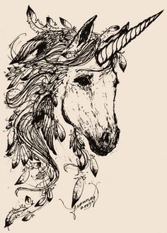 Unicorn! Moose Art, Sketches, Animals, Animales, Croquis, Animaux, Draw, Sketch, Animal