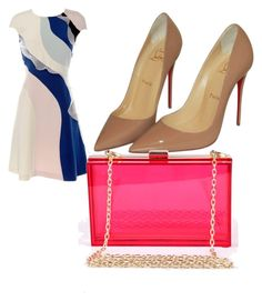 """""""Untitled #515"""" by ania18018970 ❤ liked on Polyvore featuring HUISHAN ZHANG, Christian Louboutin and Posh Girl"""