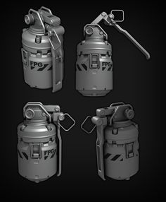 ArtStation - Star Citizen FPS Force Propulsion Grenade, Ze'ev Harris
