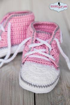 Baby-Schuhe häkeln ★ Babystiefel häkeln ★