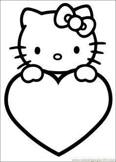 Valentine heart and swirls coloring page by Projects for