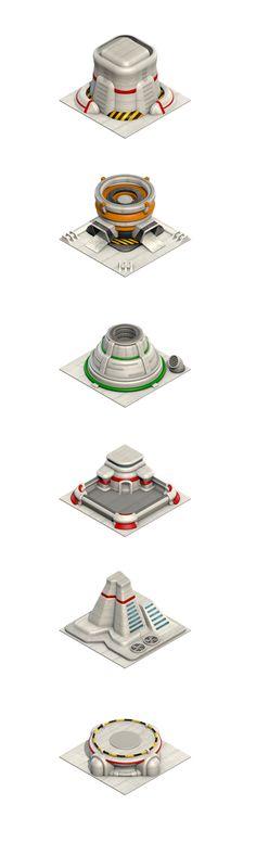 Buildings - 3D Game Art by Selin Ozgur, via Behance