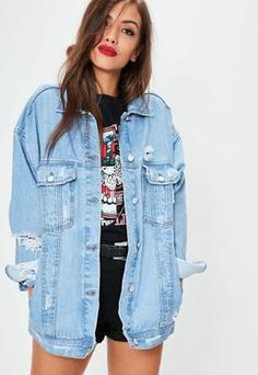 Image result for oversized denim jacket