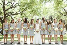 For some reason I love light grey bridesmaids dresses