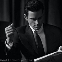 "Matt Bomer, model for Giorgio Armani's ""Made to Measure"" line"