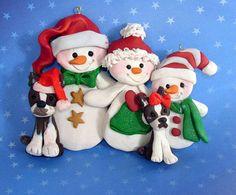 Polymer Clay Milestone Christmas Ornament by alongcameaspider1
