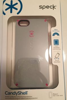 New Speck iPhone 5 5S CandyShell Hard Case Light Gray Pink New in Box | eBay