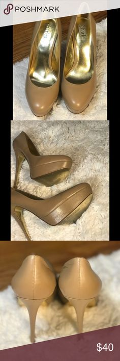 dc37c69391f6 Charles David Beige Pumps Camel Leather Pumps  Great condition . Size 8- Worn  once Heel height  4 3 4
