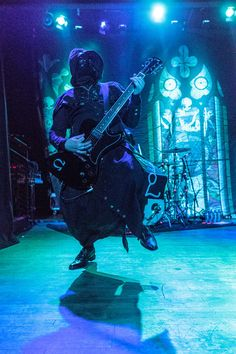 A dancing Ghoul. Omega of Ghost, live in Madison, WI, 10/4/13. Photo by reicherstudios.com