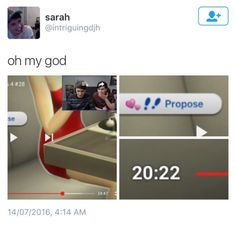 OMFG WHAT ARE THE CHANCES?!? (From DIL PROPOSES - Dan and Pil Play: Sims 4 Number 28)<<<<< ohmygoooodd