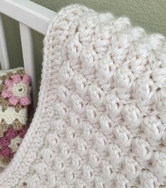 Chunky Bumpy Baby Blanket Crochet pattern by Deborah O'Leary