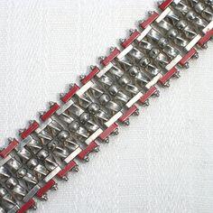 Red Art Deco Bracelet by Jakob Bengel 1930s by ArtDecoratif, $220.00