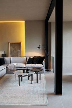 Stijlvol interieur met tapijt