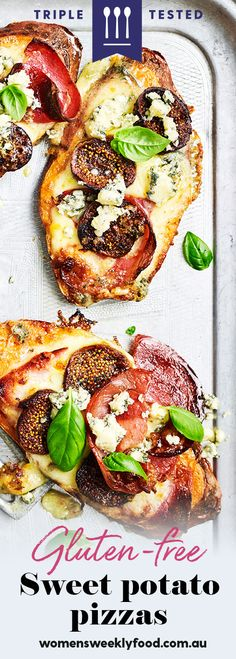 This sweet potato pizza recipe uses the versatile veg as a tasty low-carb base for a flavour-packed meal. Potato Pizza Recipe, Sweet Potato Pizza, Pizza Recipes, Free Recipes, Dinner Recipes, Easy Vegetarian Lunch, Vegetarian Recipes, Healthy Recipes, Ricotta Stuffed Chicken