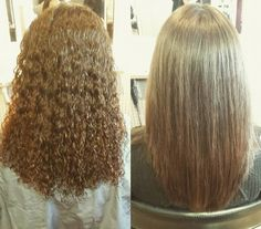 She got it with Japanese straight perm! She definately will enjoy her new hairdo. Have fun!