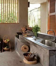 Basic Kitchen Area Concepts For Inside or Outside Kitchen areas – Outdoor Kitchen Designs Dirty Kitchen Design, Outdoor Kitchen Design, Kitchen Designs, Dirty Kitchen Ideas, Kitchen Small, Outdoor Kitchens, Kitchen Interior, Kitchen Decor, Rustic Kitchen