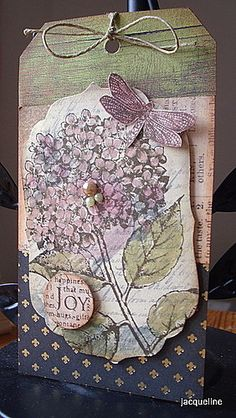 Jacqueline's Craft Nest: A quick scrap tag and another give-away