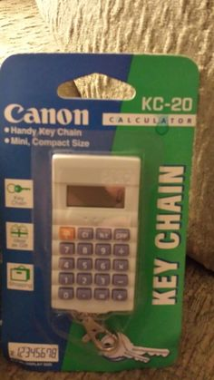 Rare Canon KC-20 Calculator Key ChainGreat Working Condition NEW IN PACKAGE