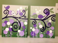 Canvas painting for Lilah's room!
