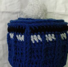 Unsatisfied at the current TARDIS beanie patterns out there, I've decided to make my own! The one thing I believed was missing from most patterns online was the unique shape of the roof, and I did my best to interpret it into a hat.