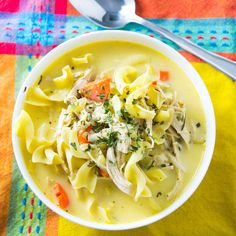 This Chicken Noodle Soup is not the soup of your childhood. Hearty, creamy and nutritious, this soup will make being a grown up worth it!