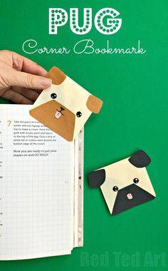 How To Make An Origami Pug Origami And Copyright Laws. How To Make An Origami Pug French Bulldog Head Papercraftdiy Papercraftslow Polyanimal. Arts And Crafts For Teens, Easy Arts And Crafts, Paper Crafts For Kids, Easy Crafts For Kids, Arts And Crafts Projects, Hobbies And Crafts, Paper Crafting, Bookmark Craft, Diy Bookmarks