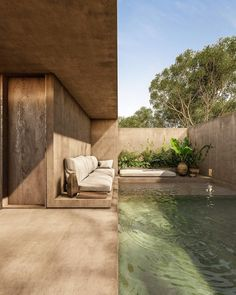 Biophilic Architecture, Interior Architecture, Natural Architecture, Paper Architecture, Modern Architecture House, Future House, My House, Outdoor Spaces, Outdoor Living