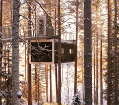 The Cabin - Treehotel - Harads, Sweden - 2010 Cyrén & Cyrén #treehouse #house #forest #design #architecture