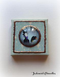 """Mini toile décorative série """" Il était une fois : La Belle au bois dormant """" n°1 : Accessoires de maison par jademiel-etincelles"""