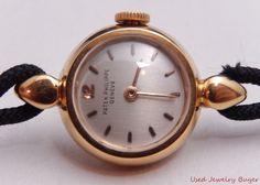 Patek Philippe 18k Yellow Gold Silver Dial Vintage Ladies Watch Ref. 3006 #PatekPhilippe #Luxury