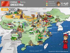 01. Taishan / 02. Huangshan / 03. Mount Emei Scenic Area, including Leshan Giant Buddha Scenic Area / 04. Mount Wuyi / 05. Huanglong  / 06. Jiuzhaigou Valley  / 07. Wulingyuan  / 09. Sichuan Giant Panda Sanctuaries / 10. South China Karst / 11. Mount Sanqingshan / 14. Xinjiang Tianshan / 15. Imperial Palaces of the Ming and Qing Dynasties in Beijing / 16. Mausoleum of the First Qin Emperor / 17 Mogao Caves / 19. The Great Wall / 20. Wudang Mountains / 21. Potala Palace, Lhasa...