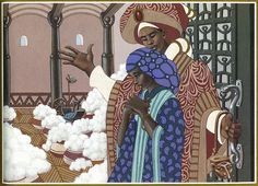 Girl Who Spun Gold by Virginia Hamilton, illustrated by Leo & Diane Dillon I love this illustration in the book!