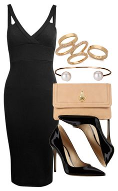 """""""Style #8982"""" by vany-alvarado ❤ liked on Polyvore featuring Miss Selfridge, Raoul, Gianvito Rossi, Jules Smith and Letters By Zoe"""