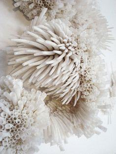 Textile sculpture by Rowan Mersh Natural Forms, Natural Texture, Rowan, A Level Textiles, Coral Design, Textile Sculpture, Native American Beadwork, Textile Artists, Textures Patterns