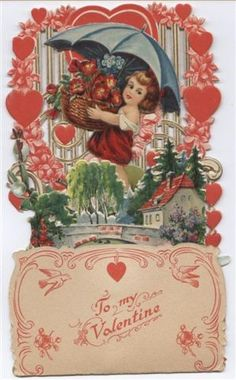 Antique valentines card from the 1930's or '40s